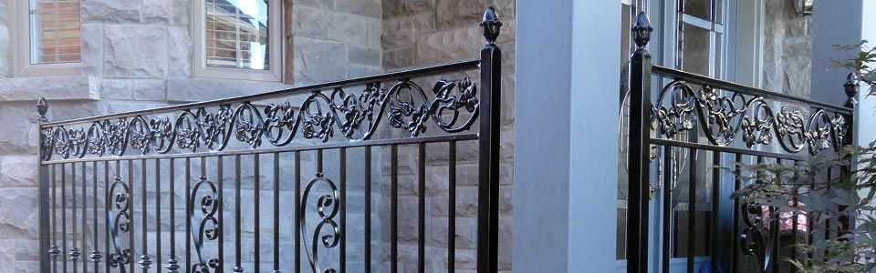 Metal railing detail