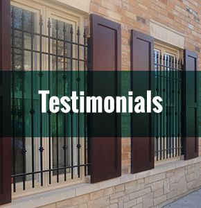 Testimonials - metal window guards